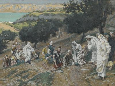 Jesus Heals the Blind and Lame on the Mountain from 'The Life of Our Lord Jesus Christ'-James Jacques Joseph Tissot-Giclee Print