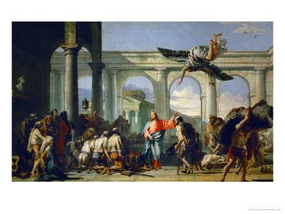 Jesus Heals the Paralytic in Bethesda-Giovanni Battista Tiepolo-Giclee Print