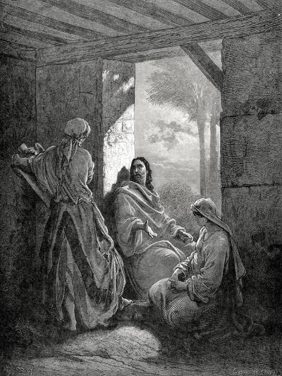 Jesus in the House of Martha and Mary, Engraving--Giclee Print