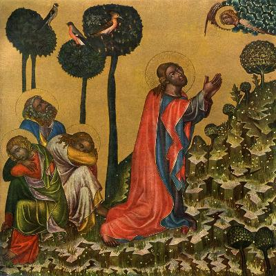 Jesus in the Olive Grove, C1350--Giclee Print