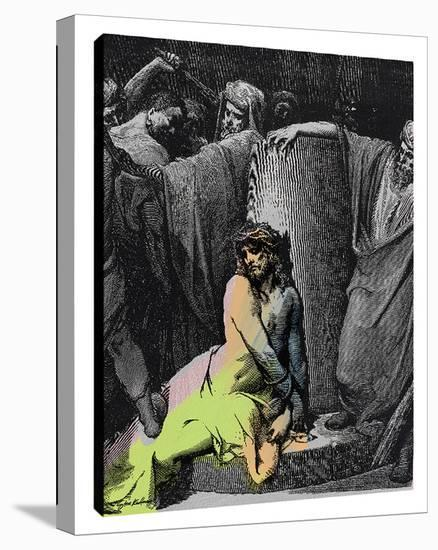 Jesus In Thorns B-Steve Kaufman-Gallery Wrapped Canvas