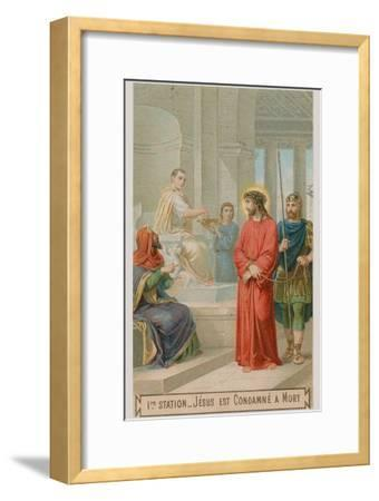 Jesus Is Condemned to Death. the First Station of the Cross