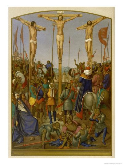 Jesus is Crucified Along with Two Other Convicted Criminals-Jean Fouquet-Giclee Print
