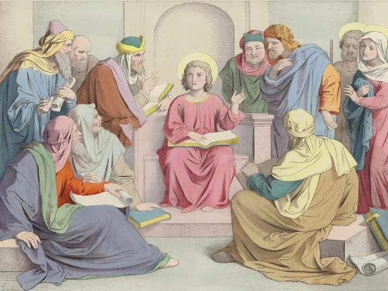Jesus Is Found in the Temple--Giclee Print