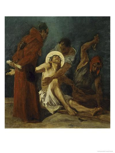 Jesus is Nailed to the Cross 11th Station of the Cross-Martin Feuerstein-Giclee Print
