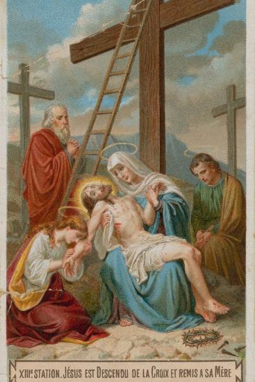 Jesus Is Taken Down from the Cross and Restored to His Mother. the Thirteenth Station of the Cross--Giclee Print