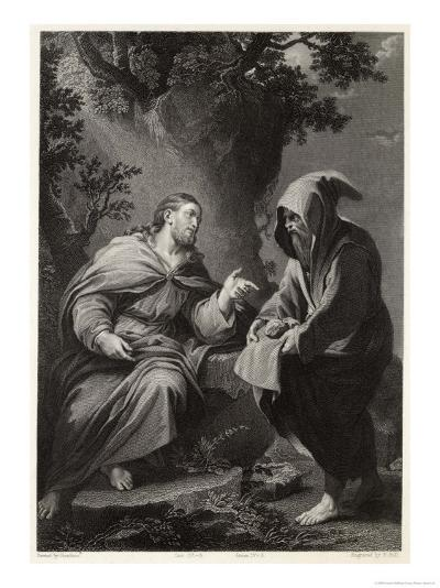 Jesus is Tempted by Satan in the Wilderness, Command This Stone That It be Made Bread-Francis Holl-Giclee Print