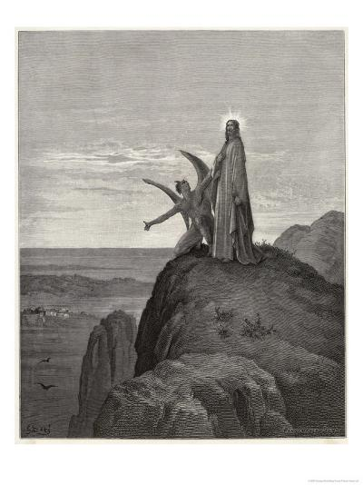 Jesus is Tempted by Satan in the Wilderness-Gustave Dor?-Giclee Print