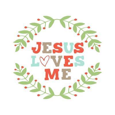 Jesus Loves Me-Garland-Inspire Me-Art Print