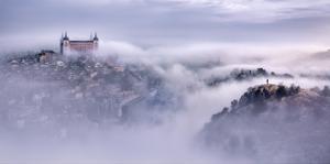 Toledo City Foggy Morning by Jesus M^ Garcia
