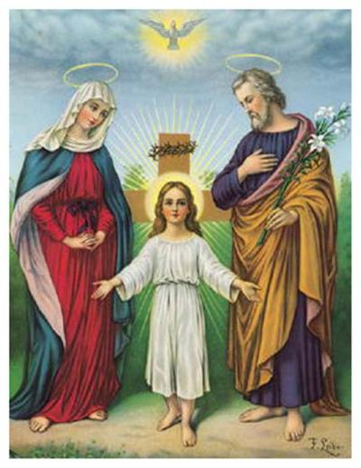 Jesus Maria Joseph--Art Print