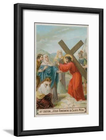 Jesus Meets His Mother. the Fourth Station of the Cross