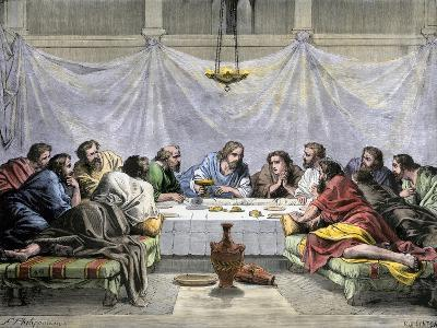 Jesus Offering the Disciples Wine at the Last Supper--Giclee Print