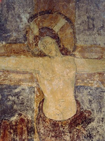 Jesus on Cross, Detail of Crucifixion Fresco--Giclee Print
