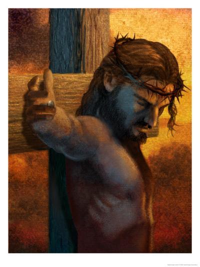 Jesus on Cross--Art Print