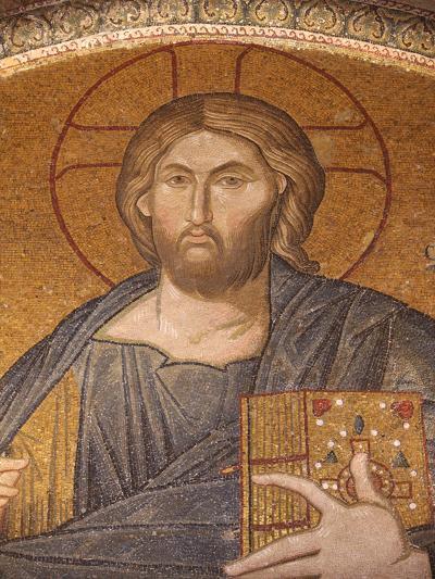 Jesus Pantocrator Mosaic, Chora Church Museum, Istanbul, Turkey, Europe-Godong-Photographic Print