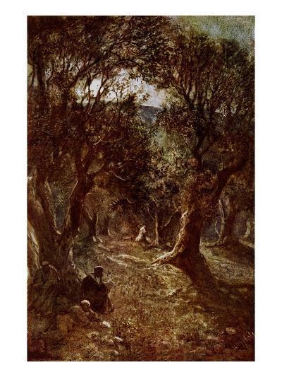 Jesus Praying in the Garden of Gethsemane-William Brassey Hole-Giclee Print