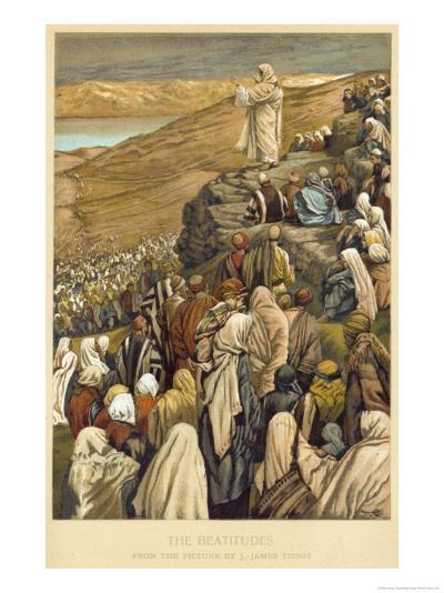 Jesus Preaches the Sermon on the Mount-James Tissot-Giclee Print