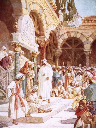Jesus Preaching in the Temple-William Brassey Hole-Giclee Print