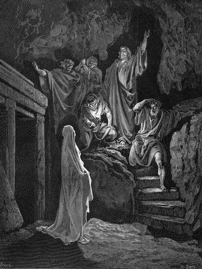 Jesus Raising Lazarus from His Tomb, 1865-1866-Gustave Dor?-Giclee Print