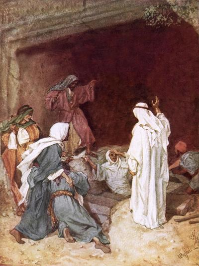 Jesus Raising Lazarus from the Dead-William Brassey Hole-Giclee Print