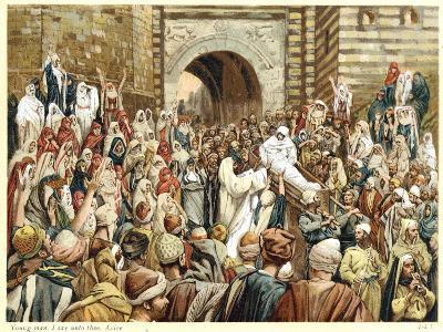 Jesus Raising the Widow's Son at Nain, C1890-James Jacques Joseph Tissot-Giclee Print