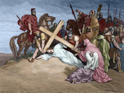 Jesus Reaches the Top of Calvary, 19th Century--Giclee Print