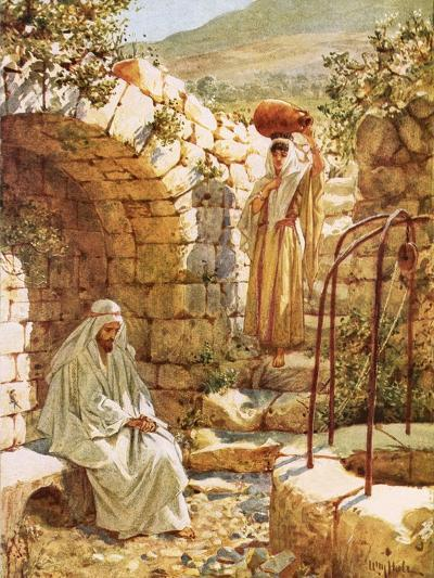 Jesus Resting by Jacob's Well-William Brassey Hole-Giclee Print