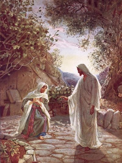 Jesus Revealing Himself to Mary Magdalene-William Brassey Hole-Giclee Print