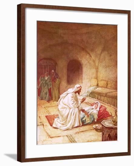Jesus Reviving Jairus's Daughter-William Brassey Hole-Framed Giclee Print