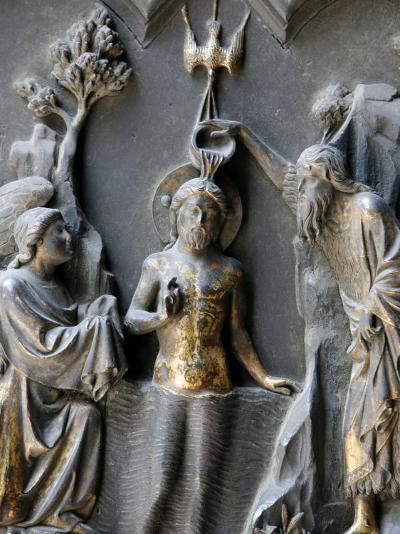 Jesus's Baptism, Duomo, Florence, Tuscany, Italy, Europe-Godong-Photographic Print