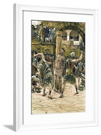Jesus Scourged on the Face, C1897-James Jacques Joseph Tissot-Framed Giclee Print