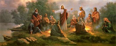 Jesus Spreading the Word-Myung Bo-Art Print