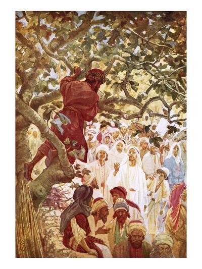 Jesus Summoning Zacchaeus the Publican to Entertain Him at His House-William Brassey Hole-Giclee Print