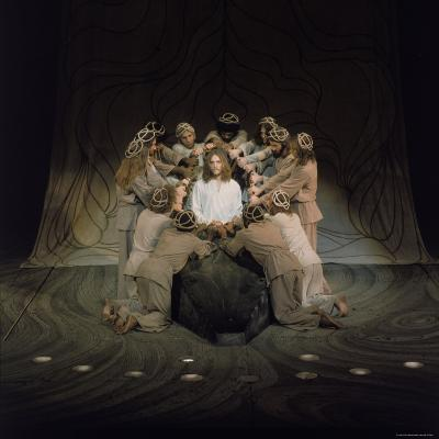 Jesus Surrounded by His Disciples in a Scene from Jesus Christ Superstar-John Olson-Premium Photographic Print