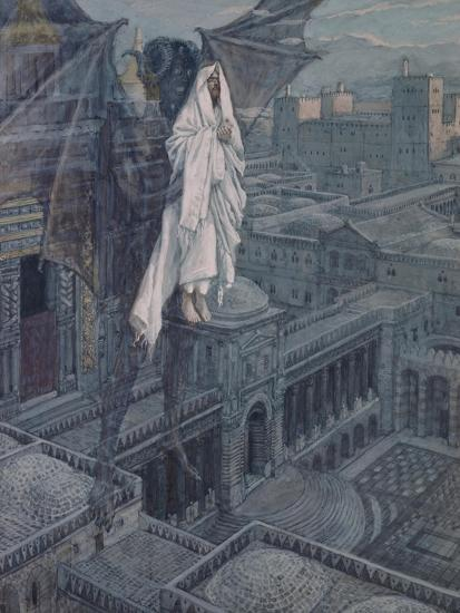 Jesus Taken Up to a Pinnacle of the Temple-James Tissot-Giclee Print