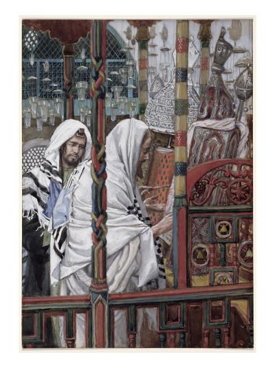 Jesus Teaching in the Synagogue, Illustration for 'The Life of Christ', C.1886-94-James Tissot-Giclee Print