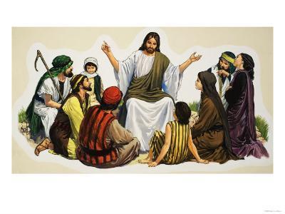 Jesus Teaching--Giclee Print