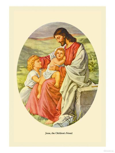 Jesus, The Children's Friend- Plockhorst-Art Print