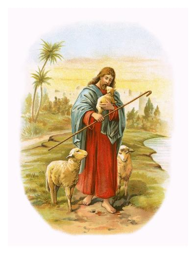 Jesus, the Good Shepherd-English-Giclee Print