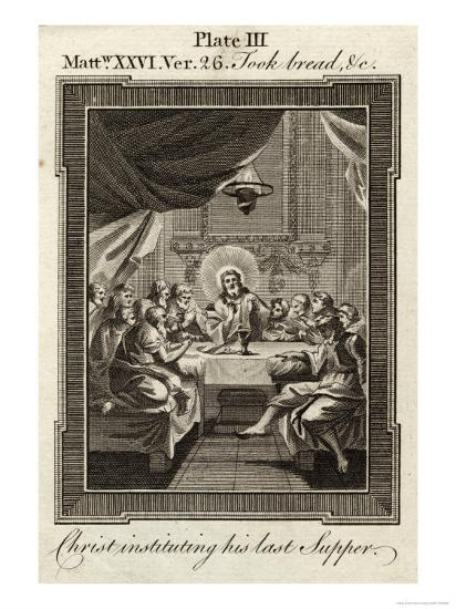 """Jesus Took Bread and Blessed It and Brake (Sic) It and Said """"Take Eat--Giclee Print"""