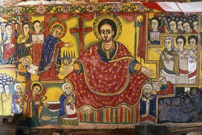 Jesus, Virgin and Saints, Paintings in Ura Kidane Meret Monastery--Giclee Print