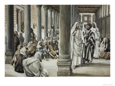Jesus Walking on Solomon's Porch-James Tissot-Giclee Print