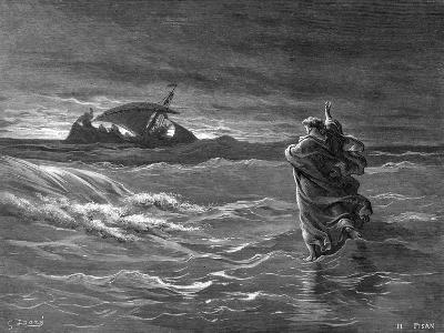 Jesus Walking on the Water, 1866--Giclee Print