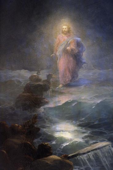 Jesus Walking on Water-Ivan Konstantinovich Aivazovsky-Giclee Print