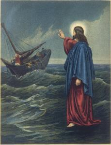 Jesus Walks on Water, to the Astonishment of Peter and the Other Apostles (St John Vi 20)