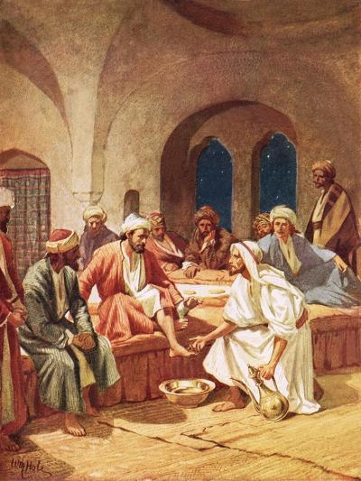 Jesus Washing His Disciples' Feet-William Brassey Hole-Giclee Print