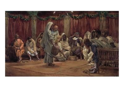 Jesus Washing the Disciples' Feet, Illustration for 'The Life of Christ', C.1886-94-James Tissot-Giclee Print