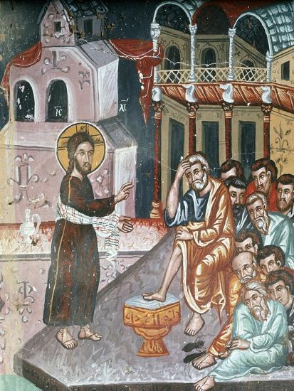 Jesus Washing the Disciples' Feet-Symeon Axenti-Giclee Print
