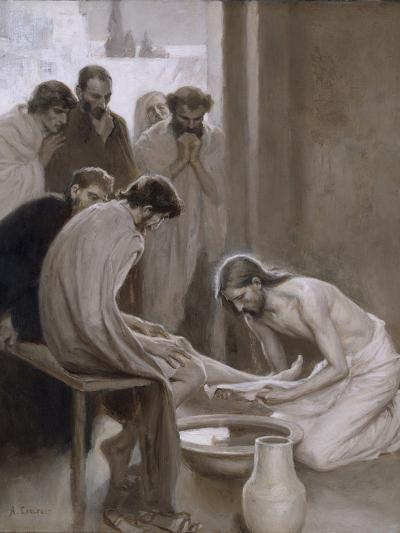 Jesus Washing the Feet of his Disciples, 1898-Albert Gustaf Aristides Edelfelt-Giclee Print